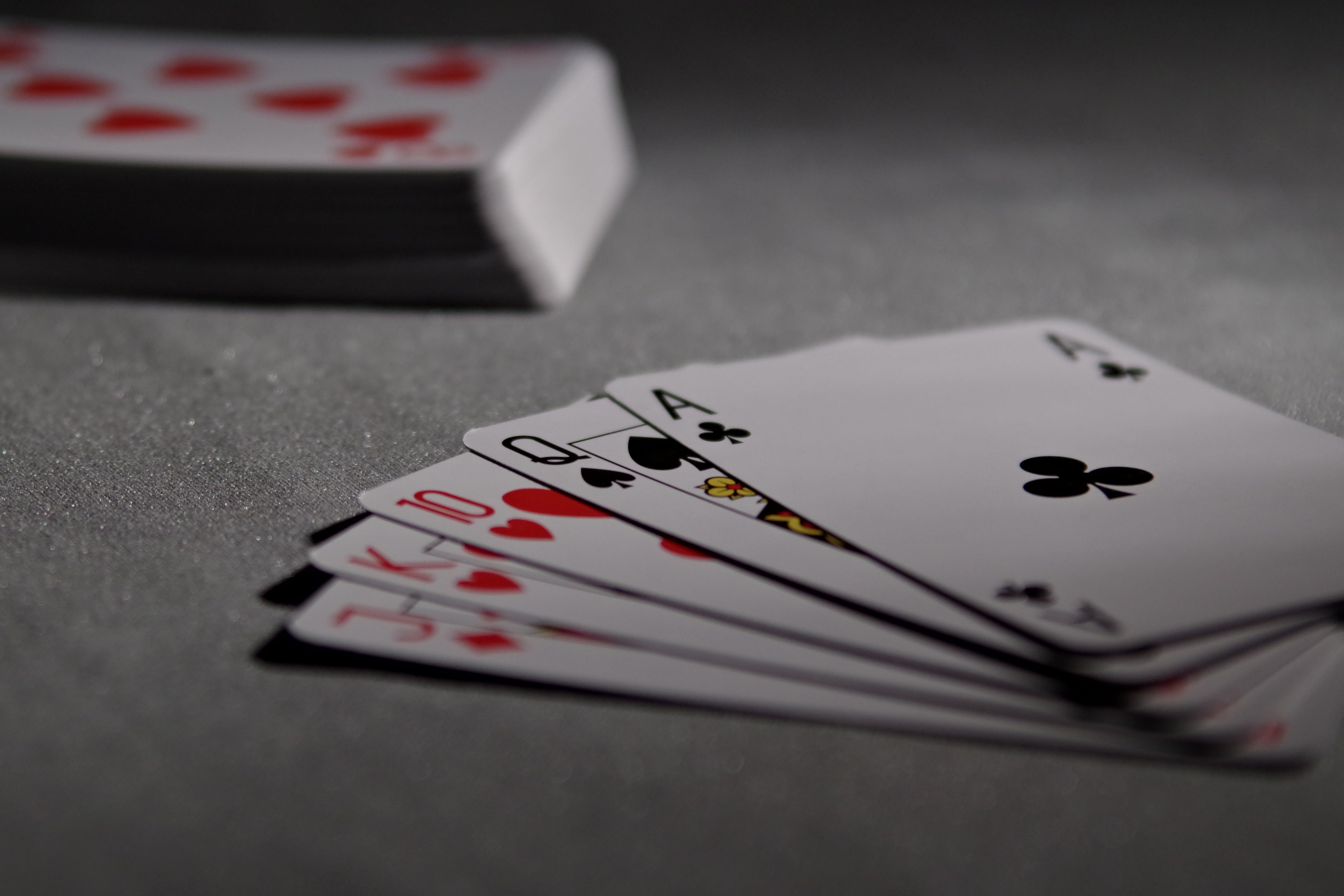 Picture of gambling cards.