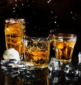 Picture of whiskey in glasses, which could lead to a DWI.